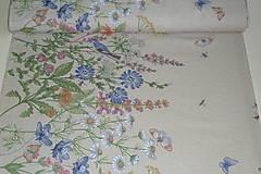 Textil - Látka Lúčne kvety bordúra - 12046135_
