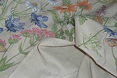 Textil - Látka Lúčne kvety bordúra - 12046136_