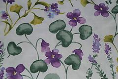 Textil - Látka Fialky - 12046362_