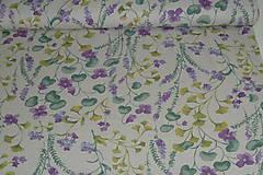 Textil - Látka Fialky - 12046364_