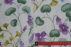 Textil - Látka Fialky - 12046365_