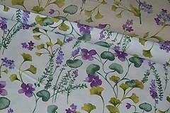 Textil - Látka Fialky - 12046366_