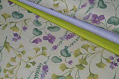 Textil - Látka Fialky - 12046369_