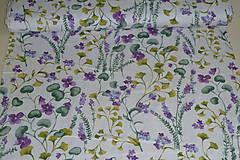 Textil - Látka Fialky - 12046370_