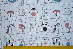Textil - Látka Zvierací kamaráti - 12046430_