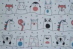 Textil - Látka Zvierací kamaráti - 12046439_