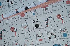 Textil - Látka Zvierací kamaráti - 12046450_