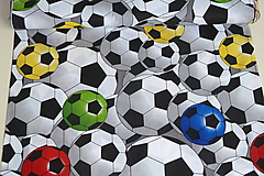Textil - Látka Farebné futbalky veľké - 12046476_