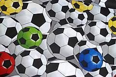 Textil - Látka Farebné futbalky veľké - 12046479_