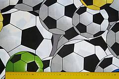 Textil - Látka Farebné futbalky veľké - 12046480_