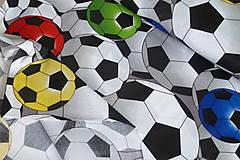 Textil - Látka Farebné futbalky veľké - 12046482_
