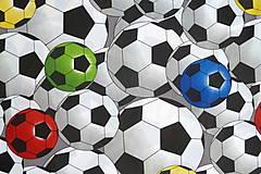 Textil - Látka Farebné futbalky veľké - 12046483_