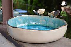 Socha - pítko, napájadlo pre vtáčikov, viď. doplnkové foto - 12048550_