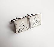 Šperky - Manžetové gombíky - Levanduľa (nerez) - 12047827_