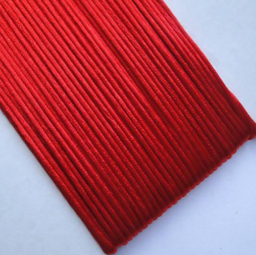 Saténová šnúra 1mm-25m (červená)