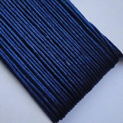 Saténová šnúra 1mm-25m (tm.modrá)