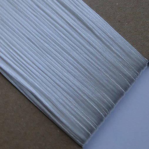 Saténová šnúra 1mm-25m (biela)