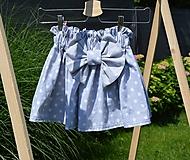 - Dievčenská sukňa Nica s mašľou - 12046665_