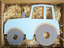 Detské doplnky - Detská drevená lampa - Traktor - 12045211_