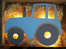 Detské doplnky - Detská drevená lampa - Traktor - 12045212_