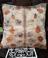 Úžitkový textil - V zemi a ohni- hodvábna ekoprint obliečka na vankúš - 12047344_