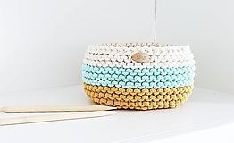 Košíky - Pletený košík - farby púšte - 12047828_