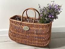 Kabelky - Prútená kabelka na bicykel holand - 12046724_
