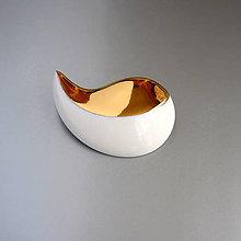 Brošne - Leaves (porcelánová brož) - 12048000_