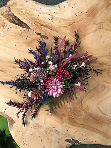 """Ozdoby do vlasov - Kvetinový hrebienok """"poézia bozkov"""" - 12046352_"""