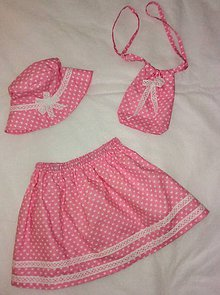 Detské oblečenie - Suknička, klobúčik a kabelka pre malú slečnu - 12048116_