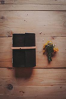 Papiernictvo - Kožený zápisník  - 12046843_