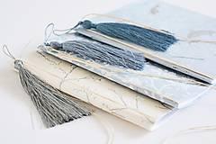 Papiernictvo - Mini zápisníky z nepálskeho papiera - 15x15 (Delfíny) - 12050807_