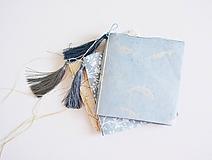 Papiernictvo - Mini zápisníky z nepálskeho papiera - 15x15 (Delfíny) - 12050809_
