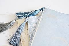 Papiernictvo - Mini zápisníky z nepálskeho papiera - 15x15 (Delfíny) - 12050810_