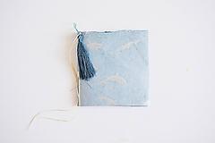 Papiernictvo - Mini zápisníky z nepálskeho papiera - 15x15 (Delfíny) - 12050823_