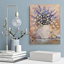 Obrazy - Kytička v bielej váze 3 - 12051347_