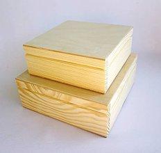 Polotovary - Sada 2 štvorcových krabičiek- väčšie - 12050057_