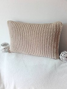 Úžitkový textil - Vankúš Farmhouse pieskový - 12049327_