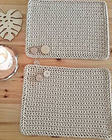 Úžitkový textil - Prestieranie Farmhouse pieskové - 12049399_