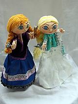 Hračky - Maňuška. Anna a Elza - princezné. - 12049678_