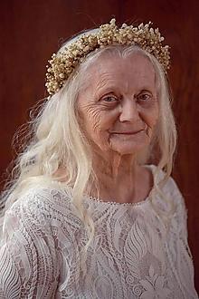 """Ozdoby do vlasov - Romantický venček """"nevestin závoj"""" - 12050306_"""