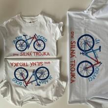 Oblečenie - Otcosynovské maľované tričká s motívom bicykla (silná trojka) - 12051495_