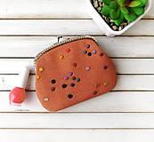 Peňaženky - Peňaženka XL Bodky na oranžovej (s kapsičkou) - 12049171_