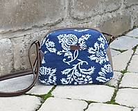 Kabelky - Modrotlačová kabelka Adriana hnedá - 12049066_