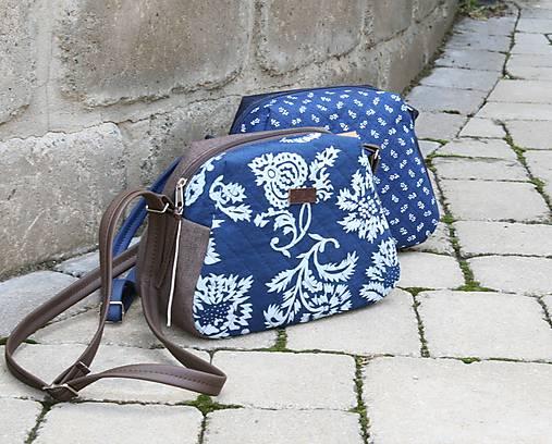 Modrotlačová kabelka Adriana riflová