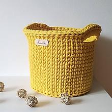 Košíky - Košík Nina s rúčkami, priemer ca 22 cm - 12050982_