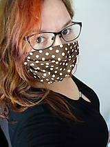 Rúška - VÝPREDAJ! Ochranné rúško na tvár - dvojvrstvové - skladom - 12050072_