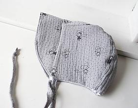 Detské čiapky - čepček/18-24 mesiacov/šedá myška - 12049849_