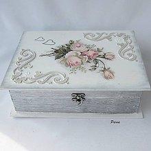 Krabičky - Kniha lásky-Rose - 12052766_