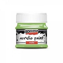 Farby-laky - Akrylová farba, matná, 50 ml, Pentart (listová zelená) - 12054127_